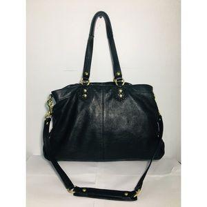 Coach Bags - Coach Black Ashley Leather Handbag F19243
